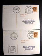 2 Cards Stationery From Nederland Special Cancel Music Esperanto - Postwaardestukken