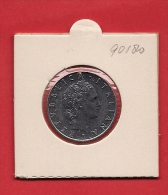 """ITALY. 1975, Circulated Coin, 50 Lira Stainless Steel """"R"""" Km95 - 1946-… : Republiek"""