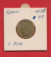 SPAIN. 1975,  Circulated Coin XF, 1 Peseta, Alu-bronze, Km806 - [ 5] 1949-… : Kingdom