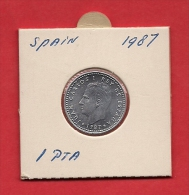 SPAIN. 1987,  Circulated Coin XF, 1 Peseta, Alu , Km821 - [ 5] 1949-… : Kingdom