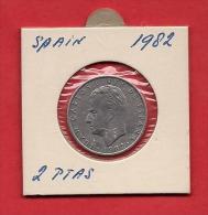 SPAIN. 1982,  Circulated Coin XF, 2 Pesetas, Alu , Km822 - [ 5] 1949-… : Kingdom