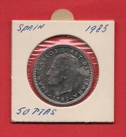 SPAIN. 1983,  Circulated Coin XF, 50 Pesetas, Copper Nickel, Km825 - [ 5] 1949-… : Kingdom
