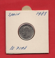 SPAIN. 1983,  Circulated Coin XF, 10 Pesetas, Copper Nickel, Km827 - [ 5] 1949-… : Kingdom