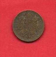 SPAIN. 1944,  Circulated Coin VF, 1 Peseta,alu-bronze, Km767 - [ 4] 1939-1947 : Nationalist Government
