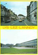 """Carte Postale 59. Lys-lez-Lannoy  Ecole Paul Bert  Rue Jules Guesde  """"La Justice"""" Trés Beau Plan - France"""