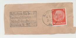 GERMANY. FRAGMENT POSTMARK FAIR AGRICULTURAL MACHINERY IN BRESLAU. BERLIN 1935 - Allemagne