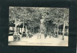 NANCY UNE ALLEE DE LA PEPINIERE CIRC  OUI   / 1910  EDIT - Nancy