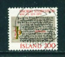 ICELAND - 1979 Snorri Sturluson 200k Used (stock Scan) - Used Stamps