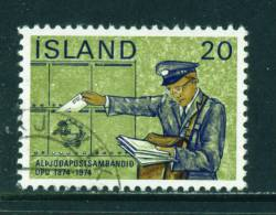 ICELAND - 1974 UPU 20k Used (stock Scan) - Used Stamps