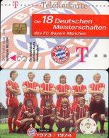 Team Fußball Meister FC Bayern München TK M 07/2003 O 20€ Deutschland Meisterschaft 1973/1974 Soccer Telecard Of Germany - Duitsland