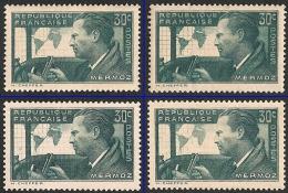 Lot 5 Timbres Mermoz 1937 Y&T N° 337-338 - Nuevos