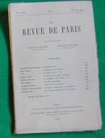 LA REVUE DE PARIS N°6 15 03 1920 ARTUS MILAN LOUIS BARTHOU FERNAND GREGH BRADA SCHOELL PATOUILLET - Livres, BD, Revues