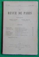 LA REVUE DE PARIS N°7 1 AVRIL1920 FERNANT GREGH ADAM ARTUS CHUQUET MELIA DUPOUY CHABRIER RIEDER RIST - Livres, BD, Revues