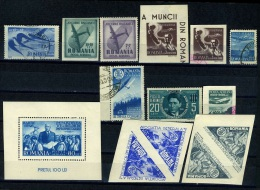 1940-1948 Airmail Semi-Postal Stamps,Romania,MH - Posta Aerea