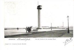 Oostende (Ostende)-1902- Vue De L'ancien Et Du Nouveau Phare- Précurseur (voir Scan) - Oostende