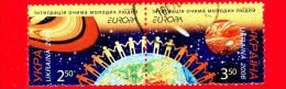 UCRAINA - Usato -  2006 - Europa - 2,50 G. • Saturno - 3,50 G. • Venere - Girotondo E Terra - Ucraina