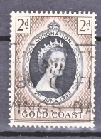 Gold Coast, 1953, Coronation, SG 165, Used - Gold Coast (...-1957)