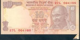 India, Indien, Wrong Cut Error Banknote, Fehlschnitt,10 Rupees, P. 95, Sign. 90, 2013, UNC ! - Indien