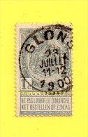 ,, BELGIQUE ,,, ARMOIRIE,,,   ** 1 C. ** ,,, 1893 ,, CACHET CENTRE ROND DE GLONS  23 JUILLET 1900   ,,,TBE - 1893-1907 Coat Of Arms