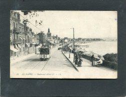 LE  HAVRE BOULEVARD ALBERT 1 ER AVEC TRAMWAY  CIRC   OUI     / 1915  EDIT - Autres