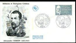 FDC 21/02/87 : Alexandre YERSIN, Découvre Le Bacille De La Pest - Médecine