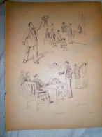 PLANCHE  PAR EUGENE CHAPERON   LA CONSCRIPTION - 1914-18