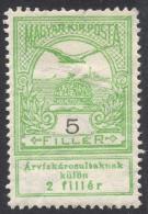 Hungary, 5 F. 1913, Sc # B4, Mi # 131, MH - Unused Stamps