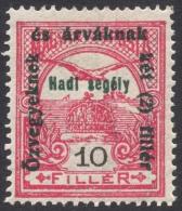 Hungary, 10 F. 1915, Sc # B40, Mi # 167, MH - Nuovi