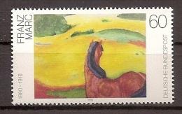Deutschland 1992, Nr. 1617, Gemälde Pferd In Der Landschaft; Von Franz Marc Postfrisch (MNH) ** - Ungebraucht