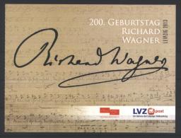 Deutschland LVZ MH '200. Geb. Richard Wagner' / Germany Prestige Booklet 'Richard Wagner's 200th Birthday' **/MNH 2013 - Musique