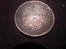 Centenaire De 1789, 1889,- RÉGIE DES MONNAIES // LOI DU 31 JUILLET /1879. VOIR PHOTOS - Royaux / De Noblesse