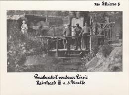 Photocarte Allemandes - Militaires Sur Un Pont De Bois Et Femme  Pose Photo (guerre 14-18)photo 12cm X 9cm - Oorlog 1914-18