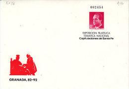E-Granada 1992. Philately. Ganzsache Granada 82-92. Nationale Thematische Ausstellung (5.056) - 1931-Heute: 2. Rep. - ... Juan Carlos I