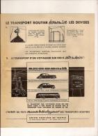 Feuillet Publicitaire Marque TRANSPORT ROUTIER Union Routiére De France Av Marceau Paris  2 - Pubblicitari