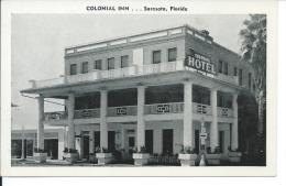 Colonial Inn, Sarasota, Florida, FL 1950's Black And White Postcard # 8711 - Sarasota