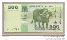 Tanzania - Banconota Non Circolata Da 500 Scellini P-35a - 2003 - Tanzania