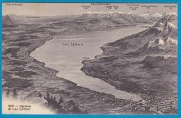 Panorama Genève Et Le Lac Léman Avec Craisser, Nyon, Allaman, Gimel, Morges, Hermance, Yvoire, Thonon - Cartes Géographiques