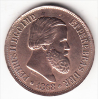 BRASIL 1868. EMPERADOR PEDRO II.20 REIS  EBC . CN4391 - Brésil