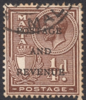 Malta, 1/4 P. 1928, Sc # 148, Mi # 133, Used - Malte (...-1964)