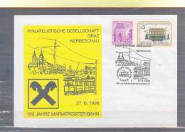 Rep. Österreich - 100 Jahre Mariatroster Bahn -  Graz 27/6/1998 (RM 2847) - Trains
