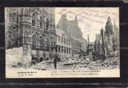 """43704    Belgio,    Louvain  -  L""""Hotel  De  Ville  Et  La  Cathedrale,  NV(scritta) - Leuven"""