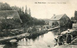 CPA 29 PONT AVEN LES LAVEUSES VUE SUR L AVEN - Pont Aven