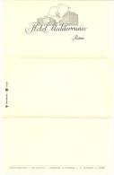 2 Feuilles De Papier à Lettre à En-tête De L´hôtel Mediterraneo, Roma - Italie