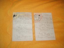 LOT DE 2 MENUS ANCIENS DU 5 SEPTEMBRE 1917.  / A IDENTIFIER. / AVEC DESSIN SIGNE A IDENTIFIER. - Menu