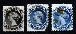 A2431) Canada New Scotia 3 Stamps - Oblitérés