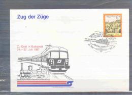 Magyar Posta - Zug Der Züge -  Budapest 24/7/1987 (RM2913) - Trains