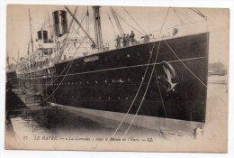 """Cpa - Le Havre - """"La Lorraine"""" Dans Le Bassin De L´Eure - (Paquebot De La Cie Générale Transatlantique) - Piroscafi"""