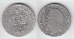 **** 50 CENTIMES 1866 BB STRASBOURG - NAPOLEON III - ARGENT **** EN ACHAT IMMEDIAT !!! - G. 50 Centesimi