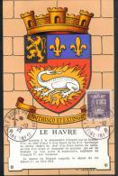 Le Havre - Cachet 1er Jour - 5.10.42 - Maximum Cards