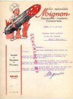 13 - ARLES - FACTURE STE SAUCISSON -JAMBON DE PROVENCE- MIGNON- 2 RUE DOCTEUR FANTON- 1932 - France